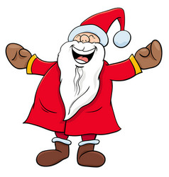 happy santa claus christmas character vector image