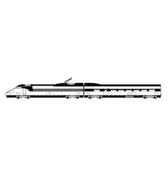 High speed train vector
