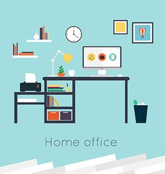 Home office vector image vector image