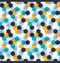 honeycomb background seamless pattern with vector image vector image