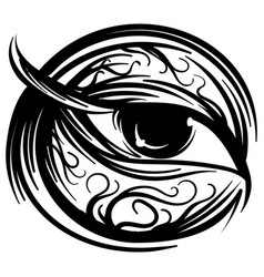 human eye stylized ink sketch vector image vector image
