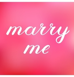 Marry me lettering cute handwriting vector