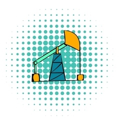Oil pump icon comics style vector image vector image