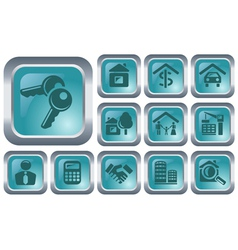 Real estate buttons vector image vector image
