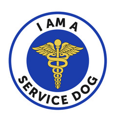 service dog badge sticker vector image vector image