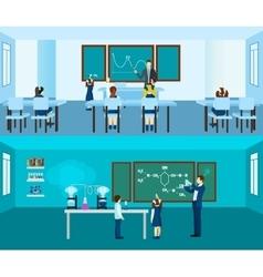 Teacher banner set vector
