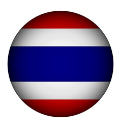 Thailand flag button vector image