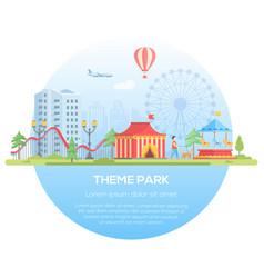 theme park - modern flat design style vector image vector image
