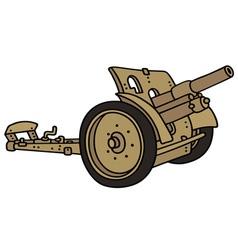 Vintage sand cannon vector