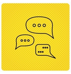 Conversation icon Chat speech bubbles sign vector image