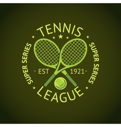Tennis league super series label badge for your vector