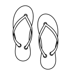 Flip flop icon outline style vector