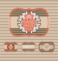 Vintage label Style with four Design Element vector image