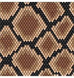 Brown snake seamless pattern vector