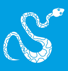 Spotted snake icon white vector