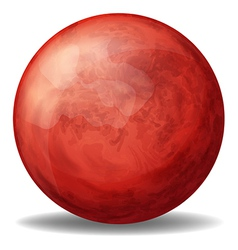 A red spherical ball vector