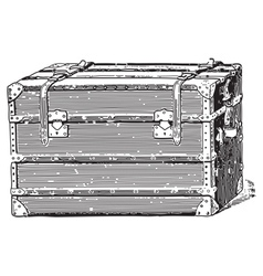 Old coffer vector image