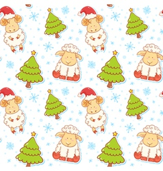 Festive new year winter seamless pattern vector