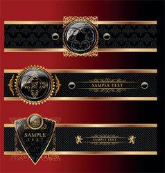 heraldry banners vector image