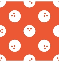 Orange bowling pattern vector