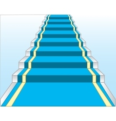 Stairway with blue track vector