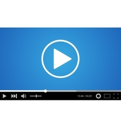 Video player flat design vector image