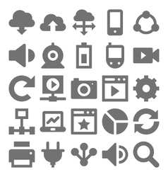 Network technology icons 2 vector