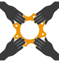 Gear icon social media design graphic vector