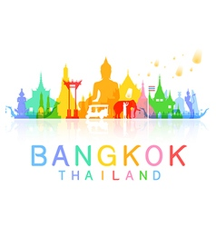 Bangkok thailand travel vector