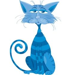 blue cat character cartoon vector image vector image