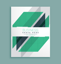 Elegant white brochure design with green vector