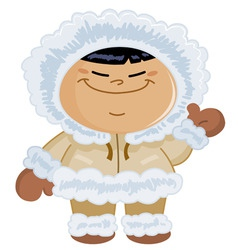 eskimo kid vector image