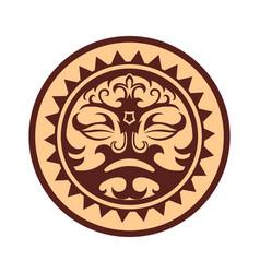 Ethnic style sticker vector