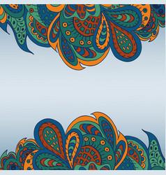 Floral doodle ethnic pattern background for vector
