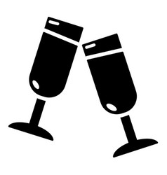 glasses champagne icon simple style vector image