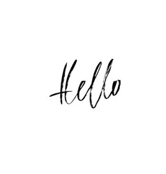 hello hand drawn lettering modern calligraphy vector image