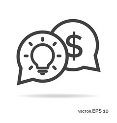 idea money outline icon black color vector image vector image