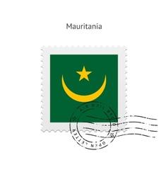 Mauritania flag postage stamp vector