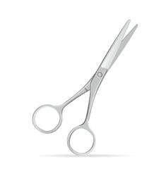 Metal scissors vector