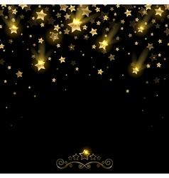 Salute of golden falling stars vector