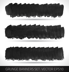 Set of grunge business banners vector image vector image
