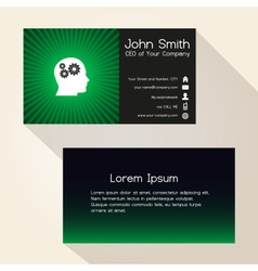 Simple color gradient and stripes wheel green vector