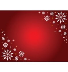 snowflakes and stars border vector image vector image