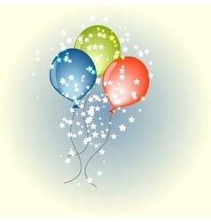Three balloons vector image vector image