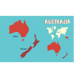 World map australia vector
