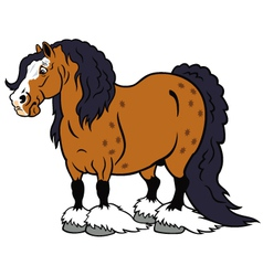 Cartoon heavy horse vector