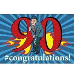 Congratulations 90 anniversary event celebration vector image