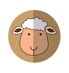 Cute sheep manger character vector