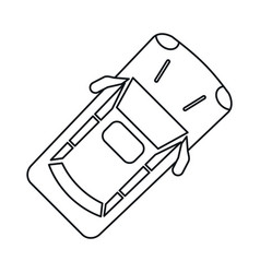 Car parking top view linear vector