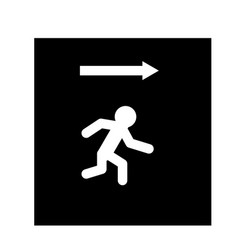 exit icon on white background exit sign vector image